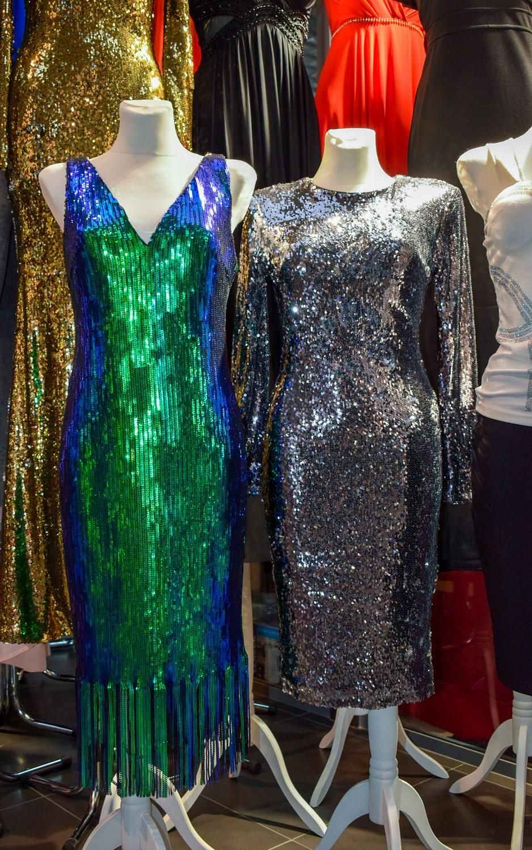 Sylwestrową Sukienki Handlowe Noc Centrum Cekinowe W – Zabłyśnij FlK13uTJc